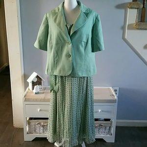 Studio I 2-pc belted dress with jacket 20W